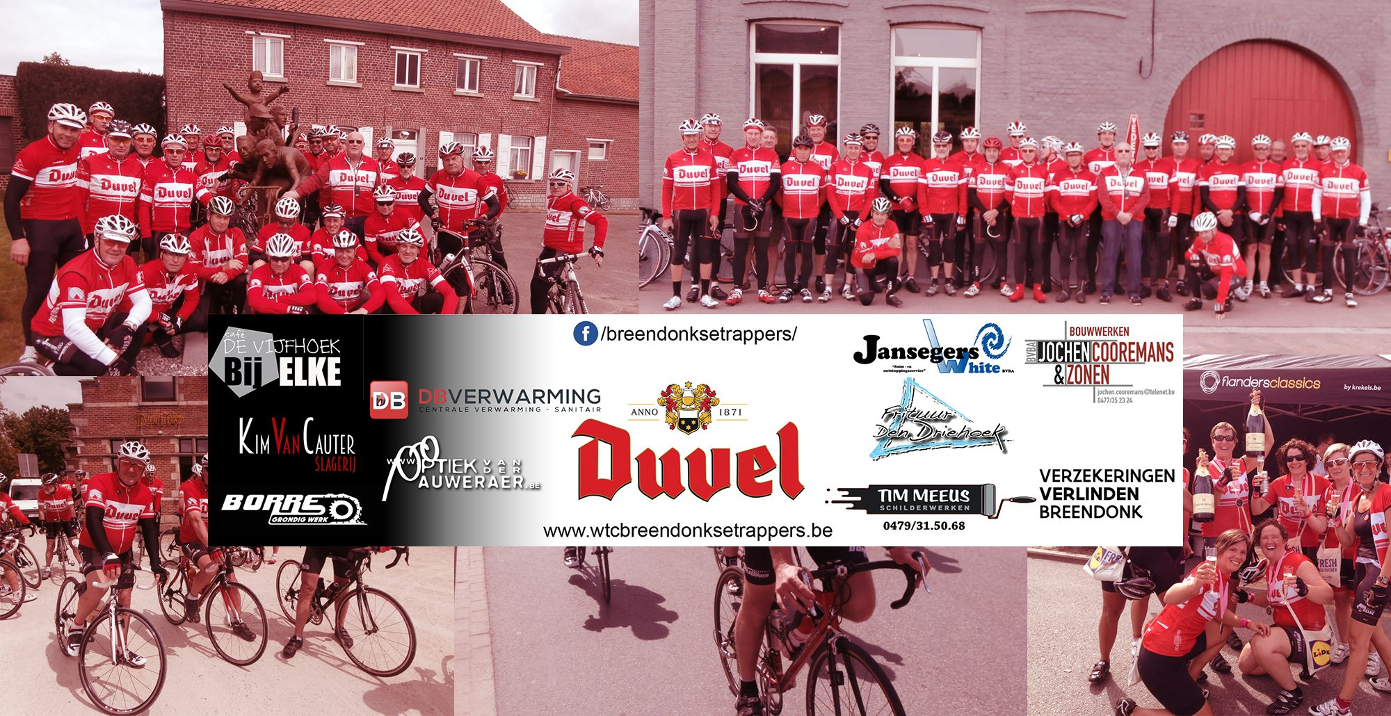 Collage met foto's en logo's van de sponsors
